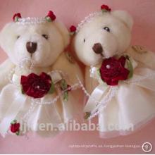 Personalizó los juguetes de peluche personalizado de peluche oso de encaje precioso