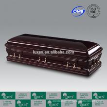 LUXES estilo americano Alsácia Funeral Casket_China caixão fornecedores