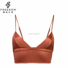 Sexy et confortable sans fil en soie longue ligne bralette crop top lingerie soutien-gorge