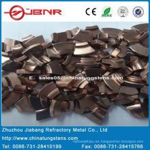 W55cu45 de punta de contacto de tungsteno con la ISO 9001 de Zhuzhou Jiabang