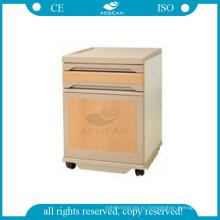 АГ-BC008 легко чистить мобильных АБС инструмент пациента в больнице цвет древесины около шкафа