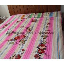 Twill Weaving Haute qualité 100% coton imprimé feuille de lit plat