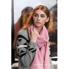 Factory 100% Seidensatin Rose Druck Schal mit niedrigem Preis