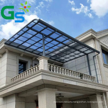 100% Lexan Bronze Polycarbonate Solid Sheet Outdoor Aluminum Alloy Canopy Awning For Balcony Villa Building