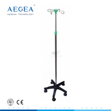 AG-IVP003 Five castors medical furniture four hooks drip stand