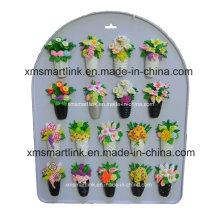 Andenken-Blumen-Harz-Magnet-Dekoration