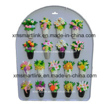 Souvenir Flower Resin Magnet Decoration