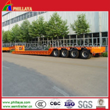 3-4 Axles Heavy Duty Truck Low Bed Semi Trailer
