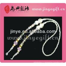 Bling Sparkly cristal perlé colliers de lunettes de cou