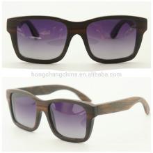 Moderne Holzsonnenbrille, New Style Holzsonnenbrille mit Etui