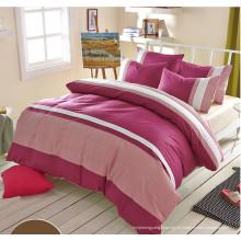 Venta caliente simple estilo de algodón puro conjuntos de cama