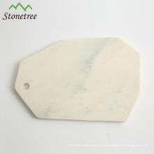 plateau de fromage en marbre naturel / planche à découper en marbre / plateau de service en marbre