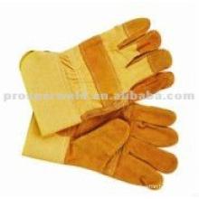 "10.5"" cow split leather palm Welding gloves"