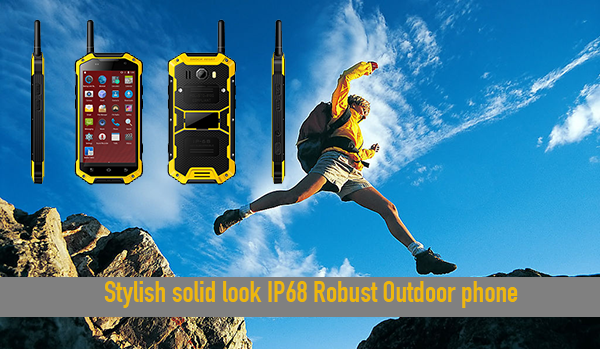 Stylish solid IP68 Robust Outdoor phone