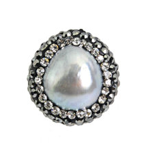 Small Pearl Crystal Jewelry Bead