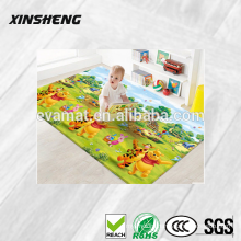 2015 hot sale professional manufacturer non-toxic PVC kids play mat, non-slip PVC baby crawling mat for kindergarten
