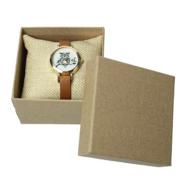 Caja de papel de reloj marrón kraft simple