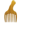 Wide tooth green sandalwood head massage comb