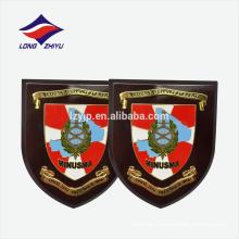 Decoraciones rojo blanco azul placa de premio de madera