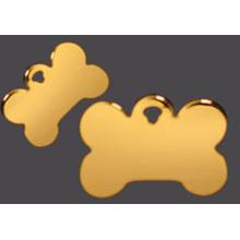 Золотая кость образный сплав цинка Подгонянные бирки собаки с цепью шарика