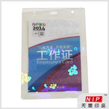 Superposición de tarjeta de identificación de holograma personalizado high-end con pegamento de EVA