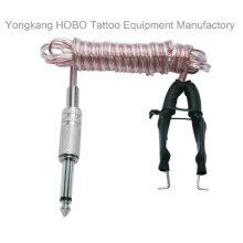 Suprimentos macios do cabo do grampo da fonte de alimentação da tatuagem do silicone da qualidade superior