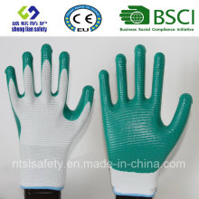 13G Polyester Shell with Nitrile Coated Work Gloves (SL-N113)
