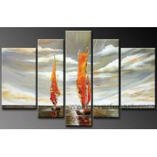 Modern Canvas Art Seascape Oil Painting for Home Decoration (LA5-070)