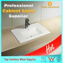 unidad de lavabo de baño de cerámica de fabricación de porcelana