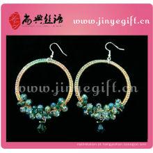 Jóia na moda Delicado Handmade Pewter Crafts Crochet Jewelleries Earrings