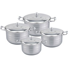 Cookware largo da borda da liga 8pcs do zinco