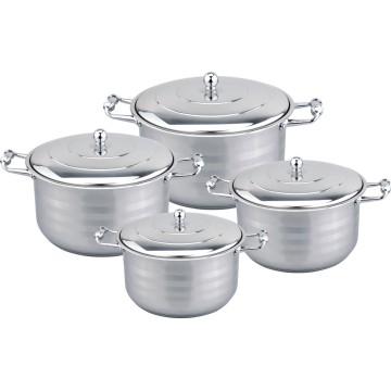 Zinc alloy 8pcs wide edge cookware