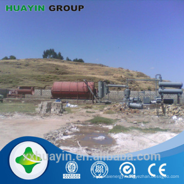 Green technology pyrolysis waste tire recycling to oil plant