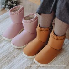 Botas de invierno cálidas impermeables de piel gruesa