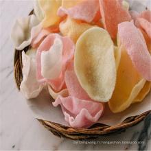 Nouveau venu de haute qualité de couleur naturelle blanc cracker aux crevettes