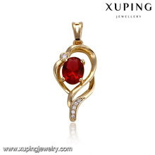32918 Simple gold plated insert charm diamond drop pendant jewelry for women