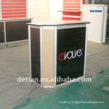 balcão de recepção modular personalizado do salão de recepção da mesa contador pequeno da recepção