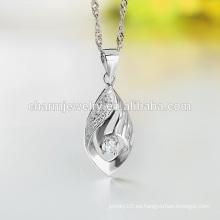 2016 Lastest collar de plata de moda collar de gota collar de diseño largo collar para damas SCR007 al por mayor