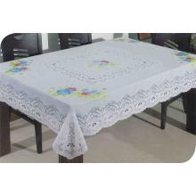 Toalha de mesa de renda longa de PVC (JFTB-003)