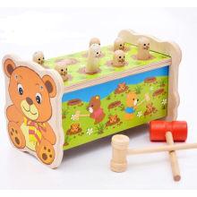 Pequeño oso de la venta caliente popular para el juguete educativo de madera del cabrito