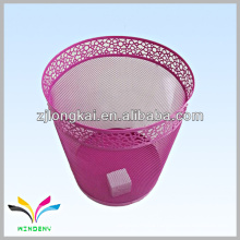 Eco-friendly metal green medical embossing wire mesh Metal Waste Bin