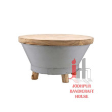 Table basse en bois ronde