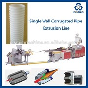PLASTIC SPIRAL TUBE EXTRUDER MACHINE, ELECTRIC PIPE EXTRUSION LINE, PE PP PVC PIPE EXTRUSION LINE