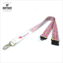 Personalized Satin Ribbon Lanyards with Custom Heat Transfer Printing on Both Sides