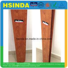 Wasserdichte Wärmeübertragung Holzmaserung Finish Aluminium Profil Polyester Pulverbeschichtung