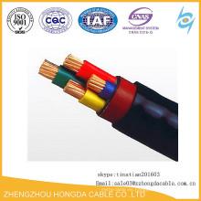 Cable de cobre multicapa 4x70mm Cable de PVC 2XFY Cable de cobre o aluminio MV
