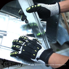 SRSAFETY Высококачественные механические перчатки, устойчивые к ударным ударам TPR
