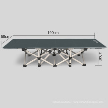 Wholesale Lightweight Portable Single Extra Guest Cot Metal Army Military Folding Bed
