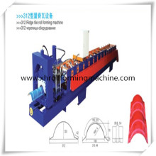 Glazed Metal Roof Ridge Cap Cold Roll Forming Machine