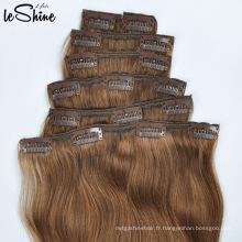 Européenne Remy 100% Extensions de cheveux humains Clip In pour les femmes noires